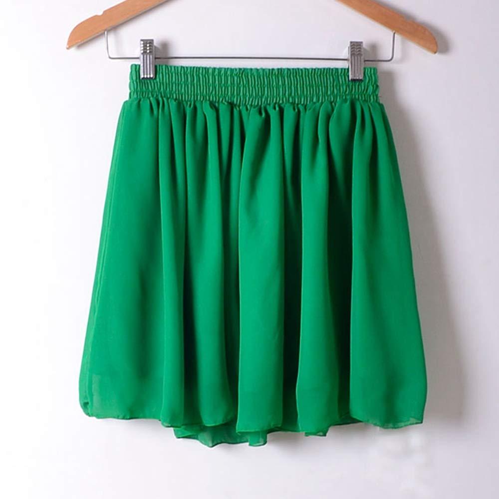 HEHEAB Falda,Mini Falda Verde Verano Europa Modelos De Comercio ...
