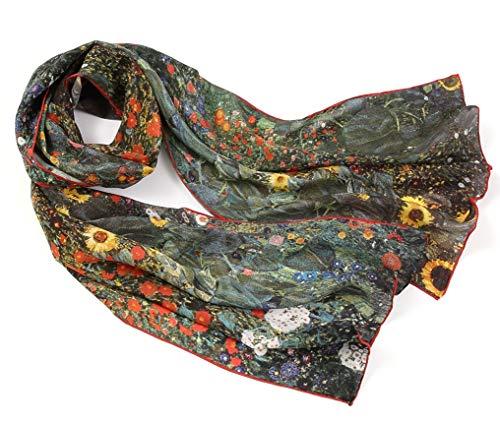 Le foulard en soie à motif peinture célèbre de Gustav Klimt