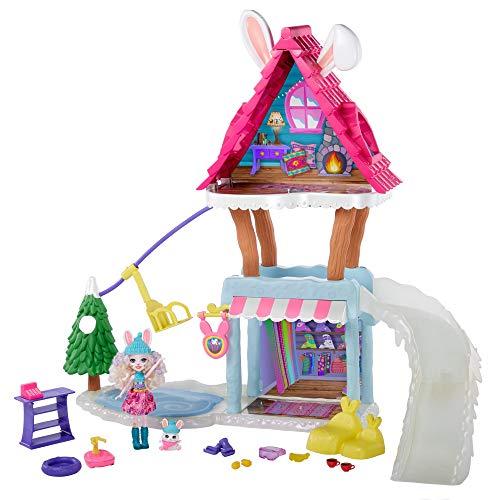 Enchantimals- Vamos de Chalet de esquí Pack con muñeca y Accesorios (Mattel GRW92-9633)