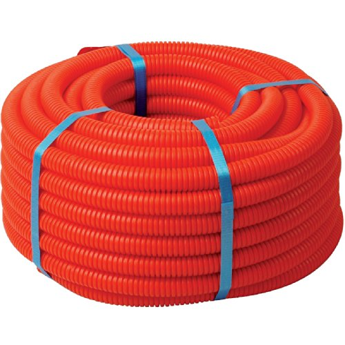Tube polyéthylène réticulé gaine (P.E.R) - Rouge - Diamètre Intérieur : 13 mm - Extérieur : 16 mm