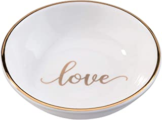 Lillian Rose RA105 LO Love Ring Dish, Measuring 3.5 x 3.5 inches, White