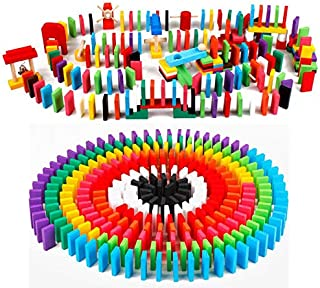 Miwaimao Bloques de Juguete Educativo de los niños Grandes del Juego del dominó,Paquete de Domino 100
