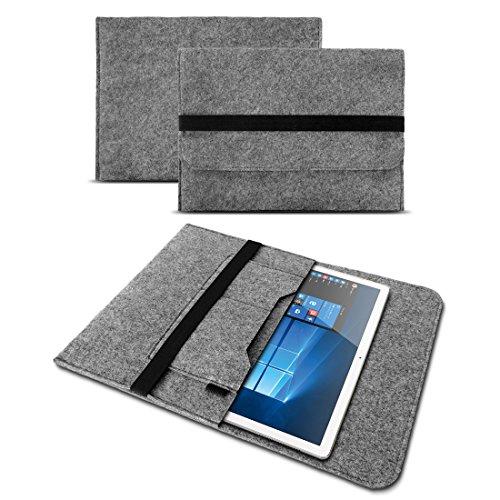 UC-Express Sleeve Tasche für Blaupunkt Atlantis A10.303 Schutz Hülle Filz Cover Tablet Hülle, Farben:Grau