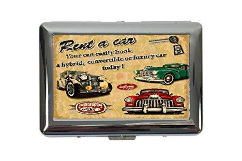 Zigarettenetui Box Nostalgie Auto Retro Auto mieten Bedruckt