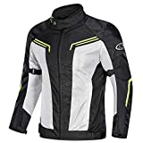 Textile Motorcycle Jacket Motorbike Biker Riding Jacket Breathable CE Armored Waterproof All-Weathe for Men,XXXXL