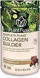 PlantFusion Collagen Builder Plant Based Peptides Protein Powder | Vegan Collagen Supplement |Collagen Building, Skin Hydration, Joint Support, Healthy Hair, Gluten-Free, Non-GMO, Chocolate, 11.42 Oz