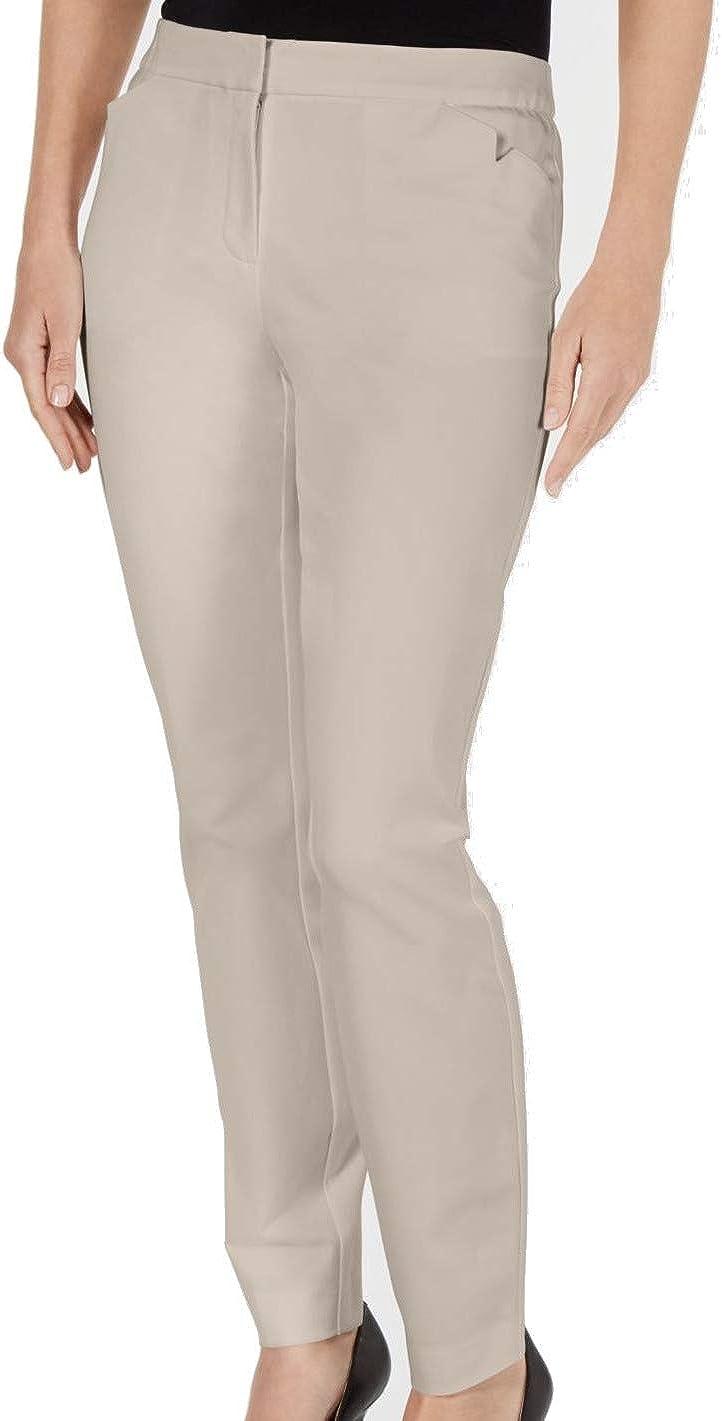 Alfani Womens Beige Skinny Wear to Work Pants Size 14