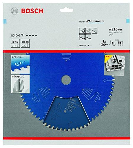 Bosch Kreissägeblatt Expert für Aluminium, 216 x 30 x 2,6 mm, Zähnezahl 64, 1 Stück, 2608644110 - 2