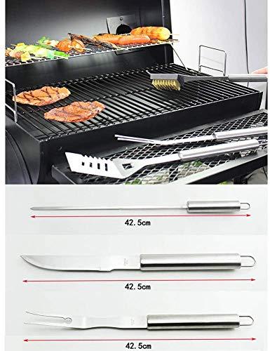 51A+Dled4WL - Knoijijuo 19Pcs Edelstahl Grillbesteck Set Im Aluminium-Koffer BBQ Grill Zubehör Set Fürs Camping Mit Geschenkpaket, Ideales