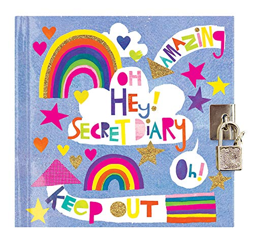 Jewelkeeper Rachel Ellen Designs Girl s Oh Hey! Secret Diary with Lock and Key, Private Journal