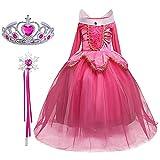 FStory&Winyee Mädchen Kostüm für Karneval Kinder Prinzessin Dornröschen Aurora Kostüm Kleid Set...