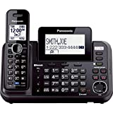 Panasonic 2-Line Cordless Phone System with 1 Handset - Answering Machine, Link2Cell, 3-Way Conference, Call Block, Long Range DECT 6.0, Bluetooth - KX-TG9541B (Black)