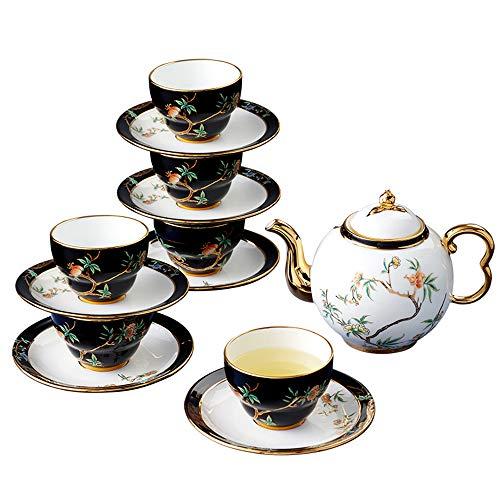 Affordable Pomeland Collection,14-piece Kung Fu Tea Set,Service for 6, Premium Porcelain,Gold Decora...