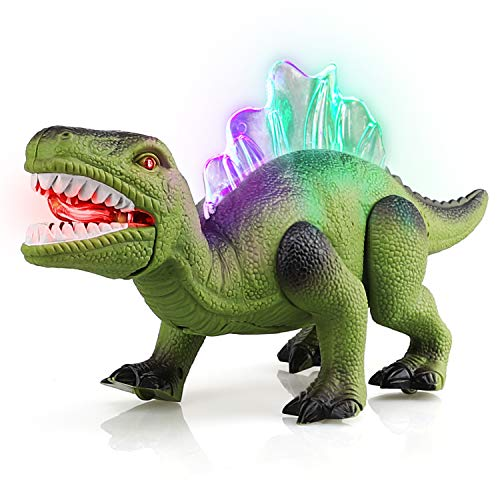 STEAM Life Walking Dinosaur Toy - Robot Dinosaur Toy Walks, Mouth Moves, Roars and Lights Up - Electronic Dino Toy for Boys and Girls 3 4 5 6 7 Year Old