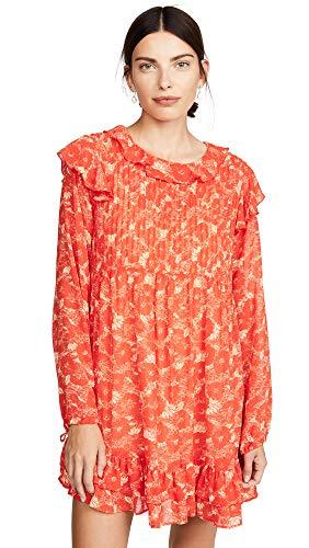 Free People Women's These Dreams Mini Dress, Orange Combo, Large