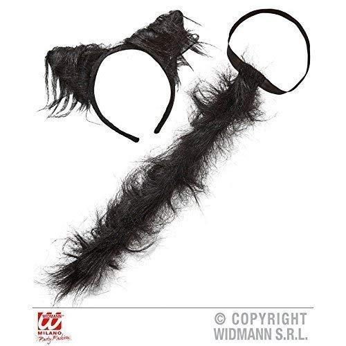 Lively Moments Plüschiges Katzenset en Deux Parties (Queue et Oreilles de Chat) en Noir/Costume Accessoires