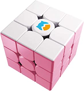 Monster Go 3x3 Cloud Trainer Cube, MG Cube Learning Series Puzzle Toy for Kids Beginners(Pink)