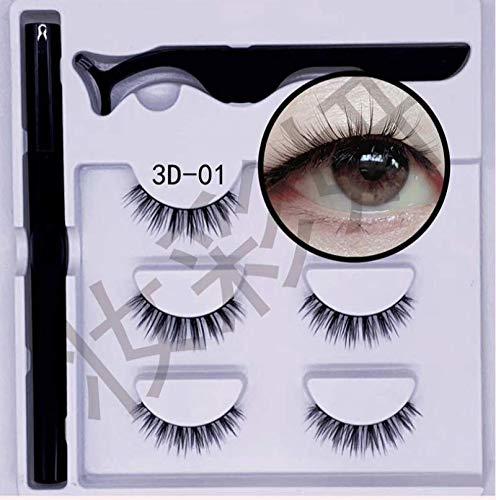 Ensemble D'eye-liner Magic Auto-adhésif, Faux Cils Eyeliner Sans Colle, Faux Cils Natural Curl