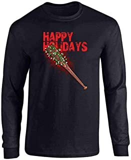 Pop Threads Happy Holidays Lucille with Christmas Lights Full Long Sleeve Tee T-Shirt