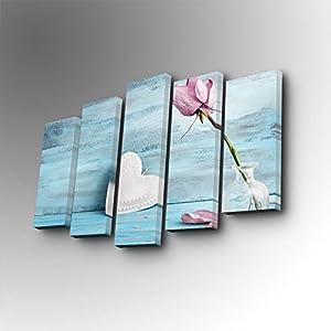 مجموعة لوحات قماشية للزينة مكونة من 5 قطع 5PUC-102 - مواد متعددة