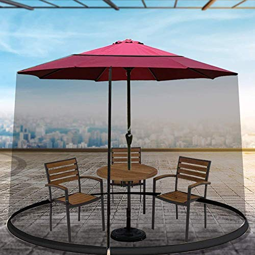 outdoor Outdoor Garden Outdoor Garden Table Umbrella Parasol Mosquito Net Cover Bug Netting Gazebo Canopy,Zipper Opening And Water Tube at Base, Black Safety