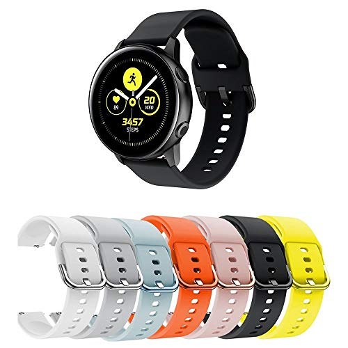Pulseira Moderna para Samsung Galaxy Watch Active 40mm - Gear S2 Classic - Gear Sport R600 - Galaxy Watch 42mm - Amazfit Bip - Marca Ltimports (Preto)