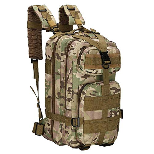 zhenshi Nylon Tactical Backpack Military Backpack Waterproof Army Rucksack Outdoor Camping Hiking Fishing Large Capacity Bags (Color : Light green)