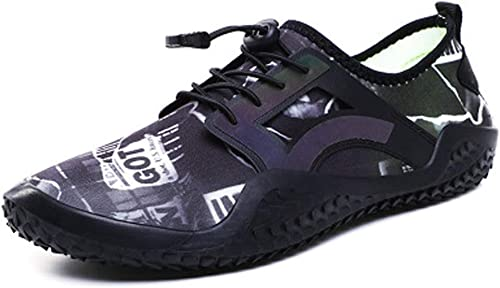 QISTAR-LIFE Chaussures de Sport Nautiques Chaussures de Natation Barefoot Aqua Outdoor à séchage Rapide for Pieds Nus à la Plage Chaussures de Piscine (Couleur   blanc, Taille   US7)