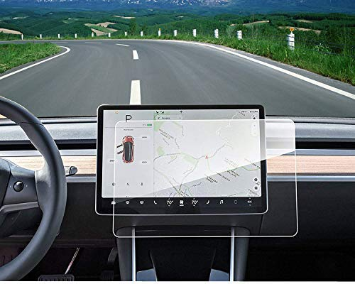 """Model 3 Center Screen Protector Model 3 Model Y 15"""" Center Control Touchscreen Car Navigation Touch Screen Protector Tempered Glass 9H Anti-Scratch and Shock Resistant for Model 3 Screen Protector"""