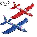 Ridecle Beleuchtete Styroporflieger Segelflugzeug 47cm fliegen Segelflugzeuge Schaum Flugzeuge Modell