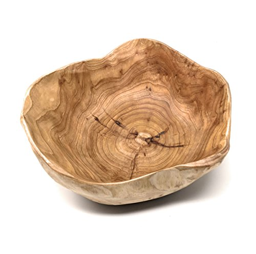 "THY COLLECTIBLES Wooden Bowl Handmade Storage Natural Root Wood Crafts Bowl Fruit Salad Serving Bowls (Small 8""-10"")"