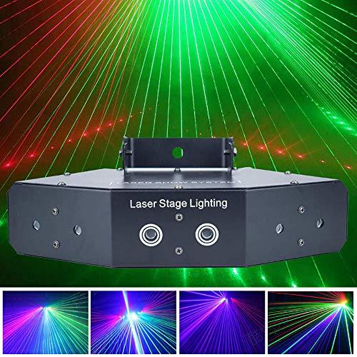 HWHSZ 6 Augen RGB Party Light, Disco-Licht, LED-DJ-Bühnenlicht-Blitzlichter, DMX 512, Auto, Sound-Modus, für Hochzeitsfestivals der DJ Club KTV Bar Home Party