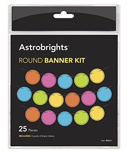 Astrobrights Classroom Decor Colorful Round Banner Kit - 25 Pc