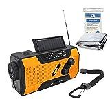 Hand Crank Solar AM FM NOAA Weather Radio 2000mAh Portable Power Bank Emergency
