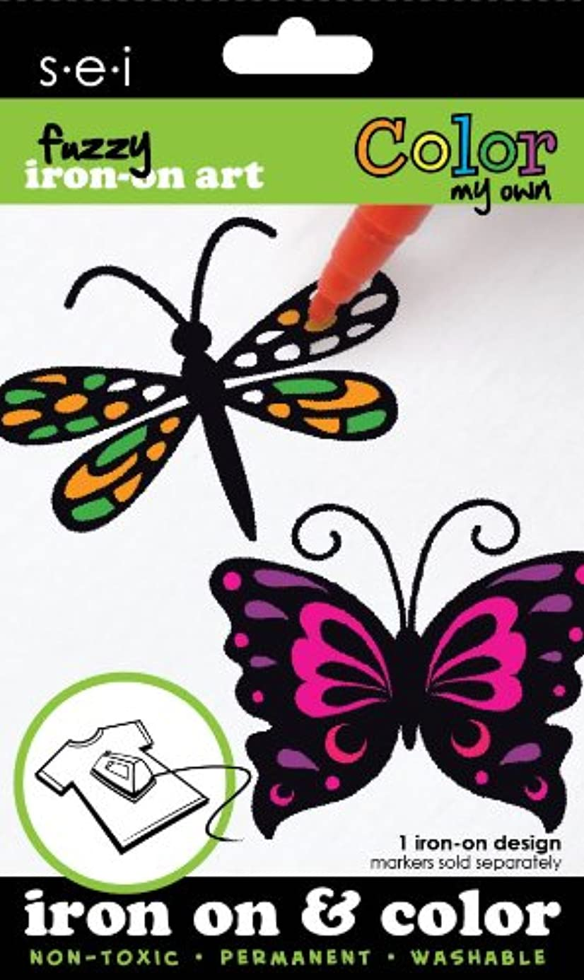 SEI 3.35-Inch by 5-Inch Butterfly/Dragonfly Color My Own Iron on Transfer, 1 Sheet sib7944260