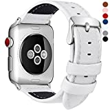 Fullmosa kompatibel Apple Watch Armband 38mm(40mm Serie 5/4) in 7 Farben, Grobe Litschi Textur...