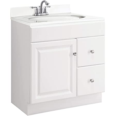 Design House 597203 Wyndham Unassembled Bathroom Vanity Cabinet Without Top 30x18 White Amazon Com
