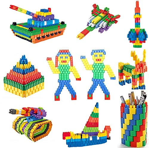 Techhark® 200+Pcs Bullet Blocks for Intelligent Kids Creative Bullets Shaped Stem Building Blocks Toy Set for Kids (Made in India)(Bullet Blocks 200+ Pcs)