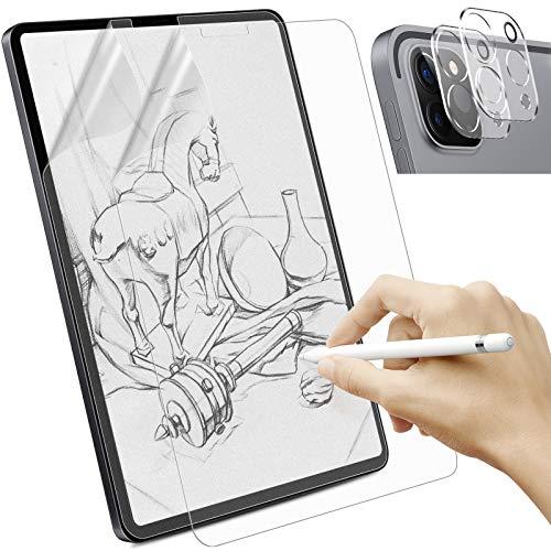 Sross 2 Stück Schutzfolie Kompatibel mit iPad Pro 12.9 2021/2020, Feel Like Paper Matte Displayschutzfolie für iPad Pro 2021, Write Like Paper Folie für iPad Pro 12.9 Zoll mit Kamera Schutzfolien