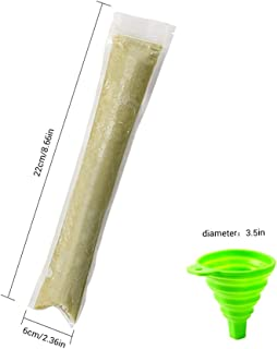 Poxcap Ice Pop Mold DIY Yogurt Sticks Lollipop Bags Healthy Homemade Snacks Reutilizable Candy Approved Popsicle Bags Juice Fruit Smoothies