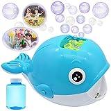 JOYIN Máquina de Burbujas Automático Ballena para niños, 2000+ Burbujas por Minuto, al Aire Libre, con Solución de Burbujas