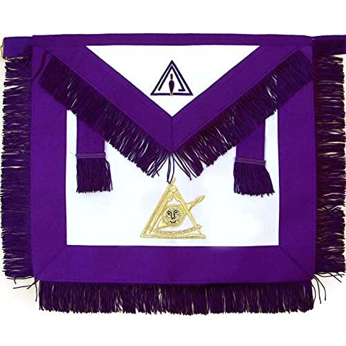 Masonic PTIM Past Thrice Illustrious Master Hand Embroidered Apron