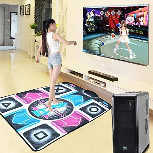 Alfombrilla de baile para una sola computadora, Alfombra de baile especial única para computadora USB con cable, Alfombra de baile Alfombra antideslizante para bailarines Cojín Juego de sensación Man