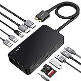 iVANKY 12-in-2 Docking station per MacBook Pro, con alimentatore da 180 W, Dock alimentato con 18W PD per MacBook Pro e Air (2 HDMI, RJ45, SD / TF, 6 porte USB 3.0, audio da 3,5 mm)