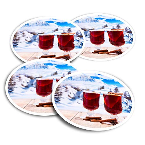 Pegatinas de vinilo (juego de 2) 10 cm – Called Wine Winter Ski Resort divertidos adhesivos para ordenadores portátiles, tabletas, equipaje, reserva de chatarra, frigoríficos #21922