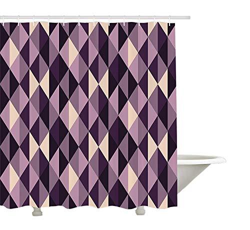 cortinas de baño triangulos