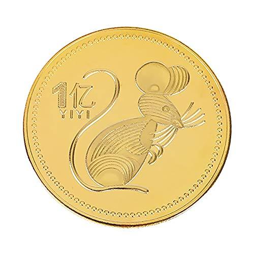 HXML 2020 Año De La Rat Moneda Conmemorativa Objetivo Pequeña - Gánelo 100 Millones Zodiaco Chino Monedas Coleccionables Arras De Boda Regalos