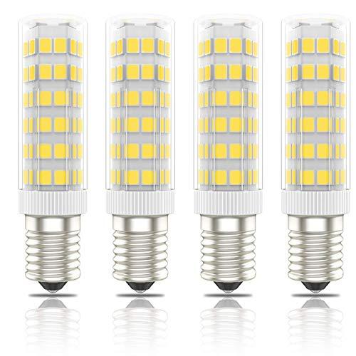 Phoenix-LED E14 Bombillas Campana Extractora,Bombilla Nevera,Lámpara de Mesa 7W,60W Halógena Equivalente, Blanco Cálido 3000K, 560lm, Pack de 4 Unidades