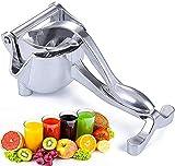 Morwealth Centrifugeuse manuelle, presse-agrumes manuel en alliage d'aluminium, extracteur de jus manuel portable pour fruits, citrons, oranges