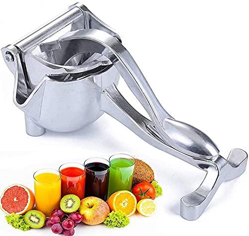 Morwealth manueller Entsafter,Zitronenpresse,Saftpresse Manuell Entsafter aus Aluminiumlegierung, tragbarer manueller Entsafter für Obst, Zitronen, Orangen